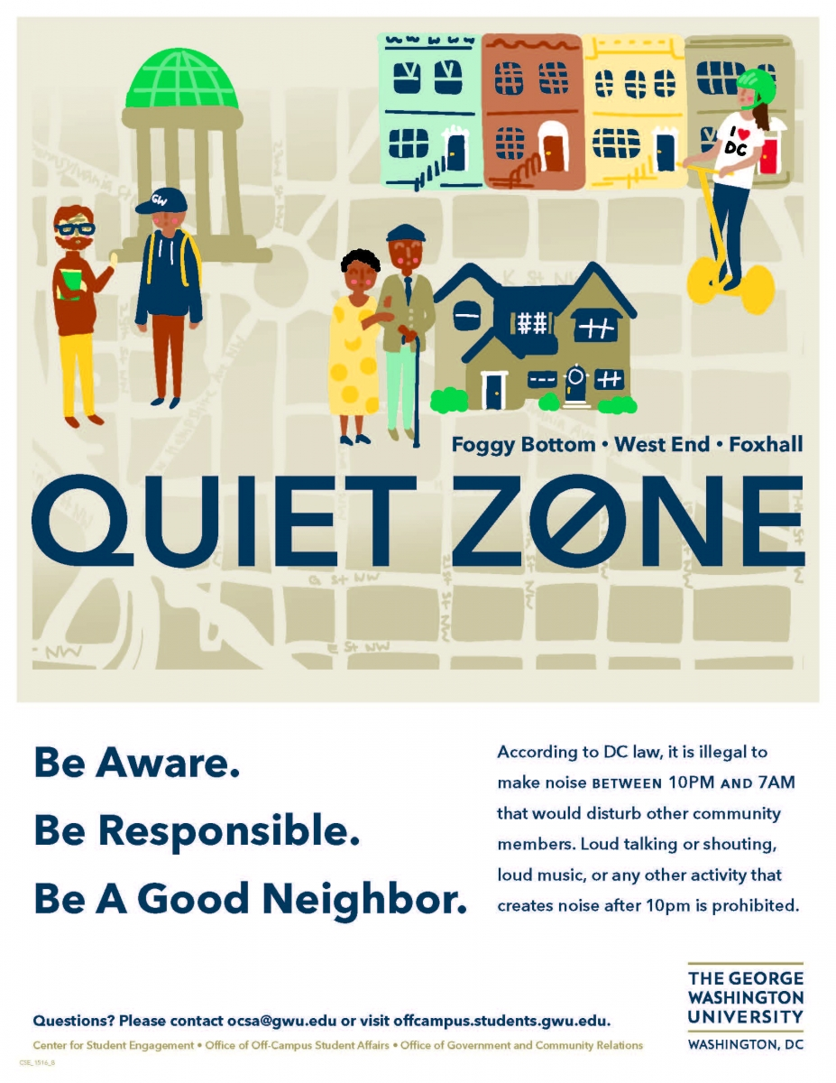 Foggy Bottom - West End - Foxhall - Quiet Zone