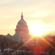 Sunrise over the US Capitol Building