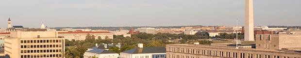 Photo of a view of Washington Monument